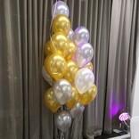 balonky zlate metalicke