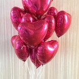 folie balonky srdicka a helium