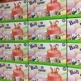 Helium Balloon time sada 30 ks + balónky 30ks mix barev