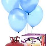 Helium Balloon time sada 50ks balonky Sky Blue 003