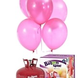 Helium Balloon time sada 50ks balónky Rose