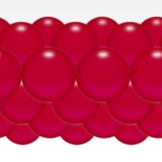 Balónková girlanda červená 3 m