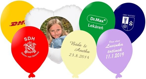Balónky s potiskem dle Vašeho přání