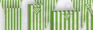 Vlajka zeleno - bílý proužek  3,65m