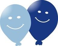 Balonky smajlik 5ks modré