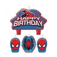 Spiderman svíčky set 4ks