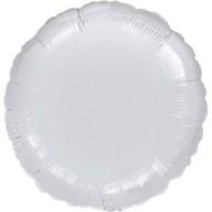 Balónek kruh Silver Metallic