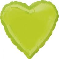 Balonek foliový srdce Kiwi Green