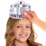Koruna na hlavu k narozeninám s nalepovacím číslem pro holky