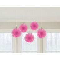 Závěsné dekorace růžové 5 ks 15,2 cm