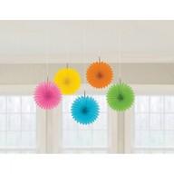 Závěsné dekorace barevné 5 ks 15,2 cm