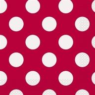 Ubrousky červeno - bílé tečky 16ks