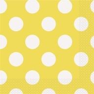 Ubrousky žluto - bílé tečky 16ks