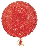 Balonek kruh červený - hvězdy