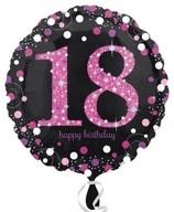 Balónek foliový 18. narozeniny Pink 43 cm
