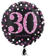 Balónek foliový 30. narozeniny Pink 43 cm