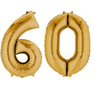 Balónky fóliové narozeniny číslo 60 zlaté 86cm