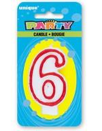 Svíčka na dort číslo 6