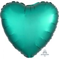 Balónek srdce foliové satén zelené