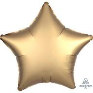 Balónek hvězda foliová satén zlatá