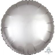 Balónek kruh satén stříbrný