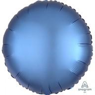 Balónek kruh satén modrý