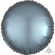 Balónek kruh satén Steel Blue
