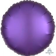 Balónek kruh satén fialový