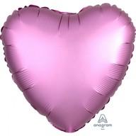 Balónek srdce foliové satén světle fialové