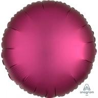 Balónek kruh satén tmavě růžový