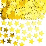 Konfety hvězda zlatá metalická 14g