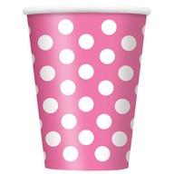 Kelímky růžovo - bílé tečky 6ks 355ml