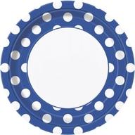 Talíře modro - bílé tečky 8ks 23cm
