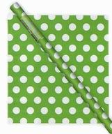 Balící papír zeleno  - bílé tečky
