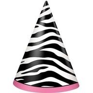 Čepičky zebra party 8ks