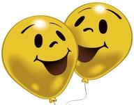 Balonky 8ks úsměv žluté