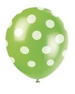 Balónky zelené s puntíky 6ks