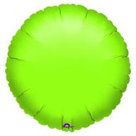 Balónek kruh Lime Green Metallic