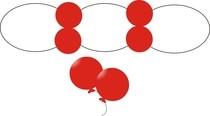 Malé dekoračné balóniky
