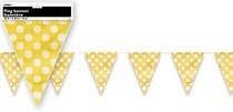 Vlajka žluto - bílé tečky 3,65m