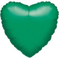 Balónek srdce foliové zelené
