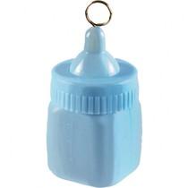 Lahvička modrá závaží na balónky 7 cm x 4 cm