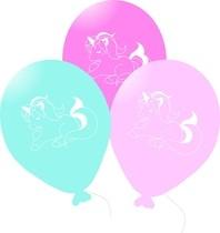 Balónky jednorožec 6 ks 27 cm