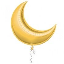 Foliový balonek měsíc zlatý 89 cm