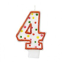 Dortová svíčka číslo 4 tečky