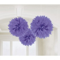 Závěsné dekorace fialové 3 ks 40,6 cm Amscan