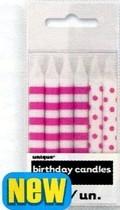 Svíčky ružovo-bílé 12ks