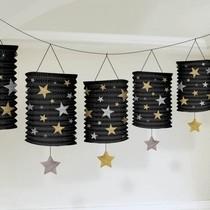 Lampionové girlandy hvězdy 3,65m