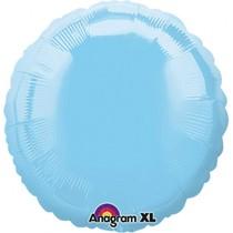Balónek kruh Light Blue Iridescent