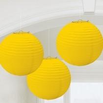 Lampiony žluté 3 ks 24 cm